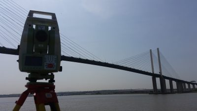 Setting Out Survey in Dartford near Queen Elizabeth II bridge