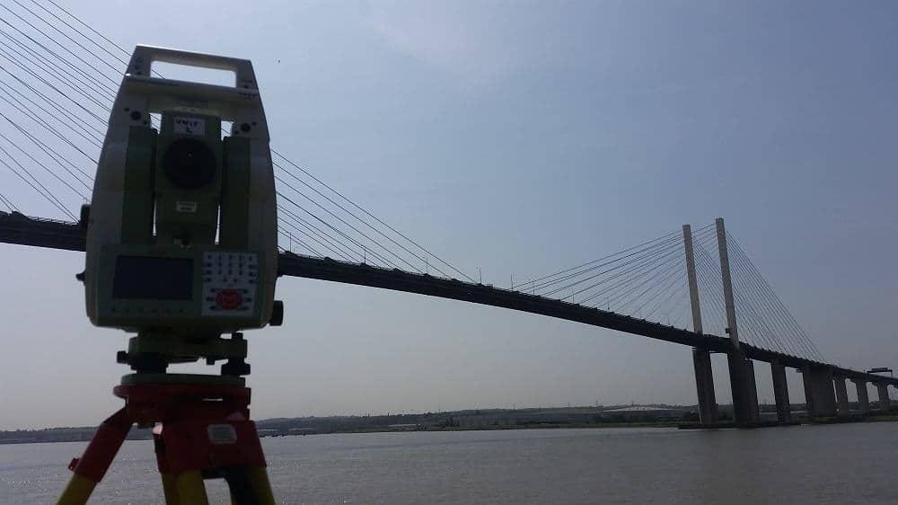 Setting Out Survey in Dartford near Queen Elizabeth II bridge