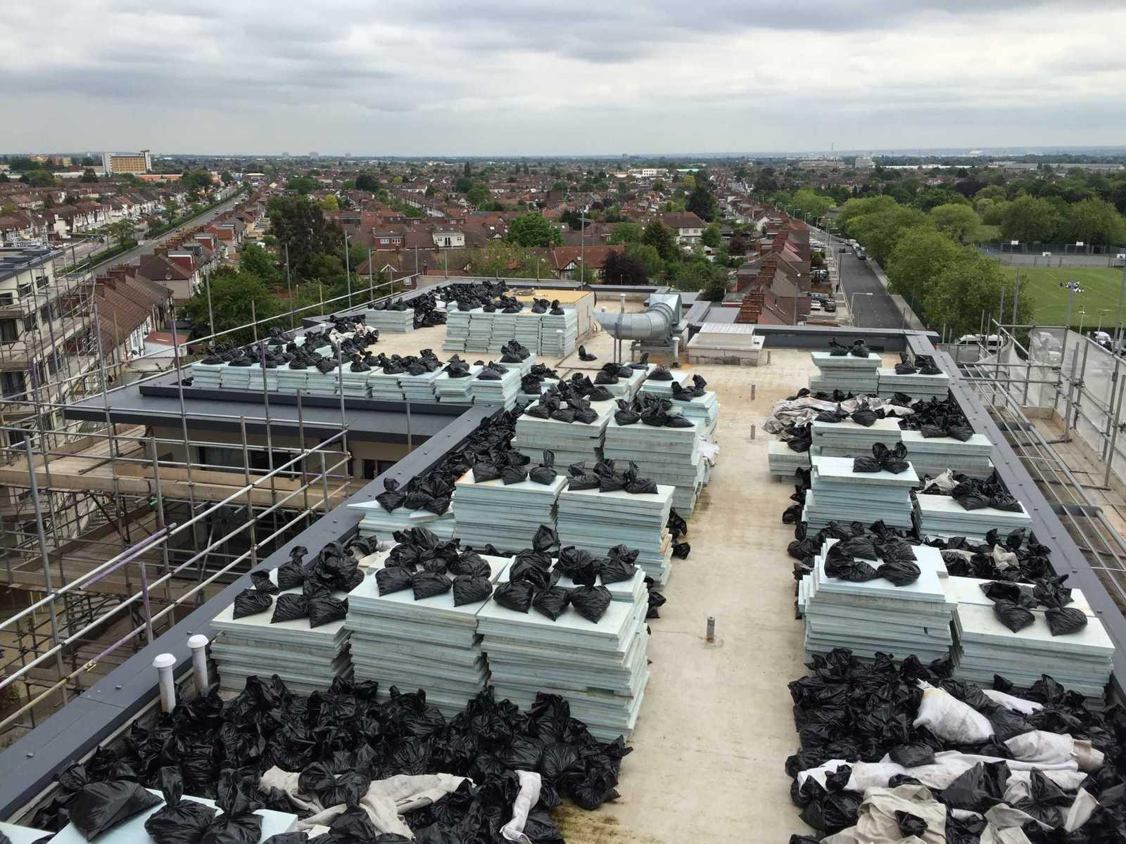 Level survey on roof Gants Hill London