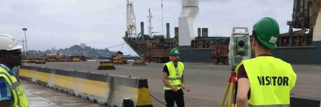 Monrovia port surveying