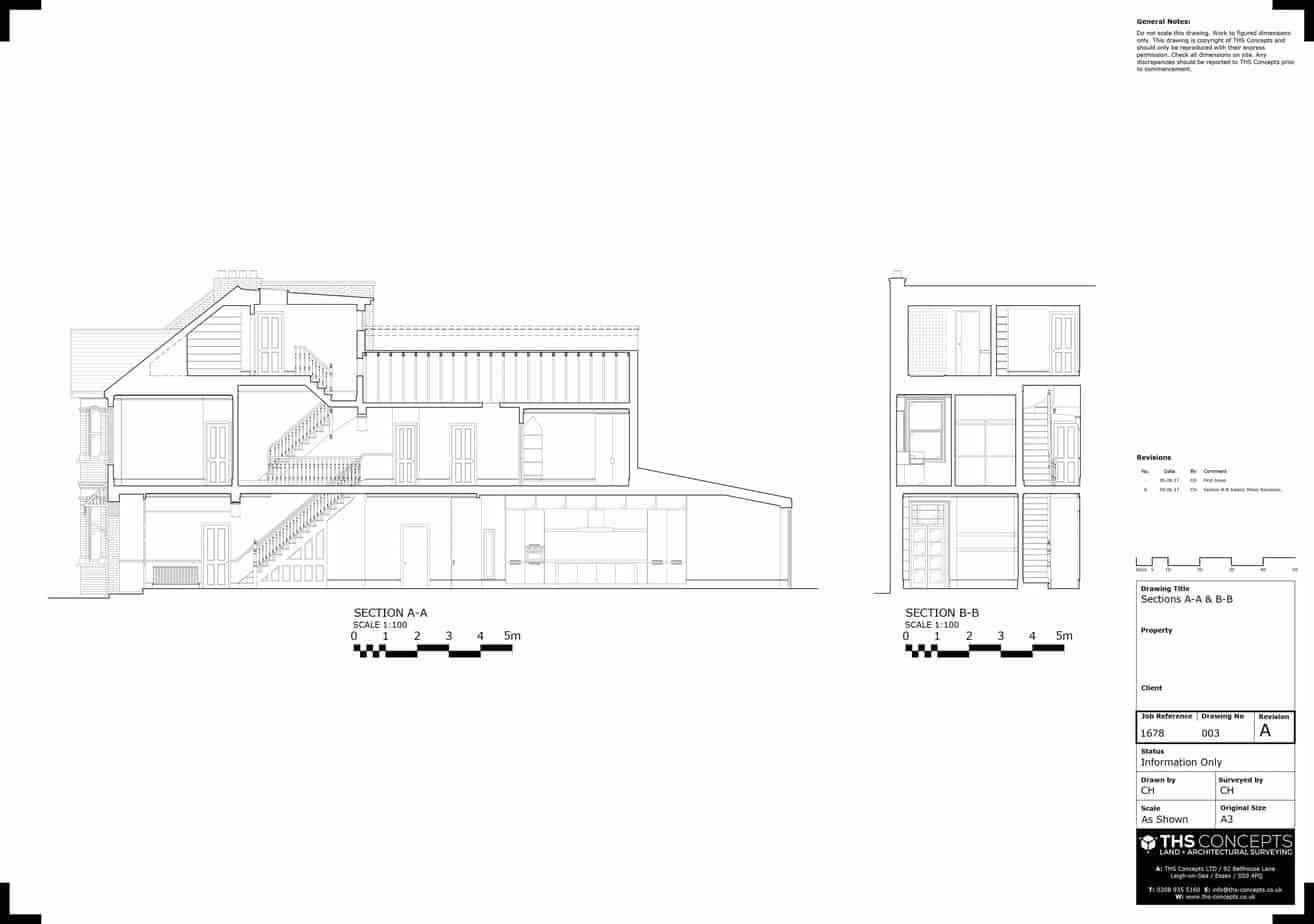 Measured Building Surveys Section Example London