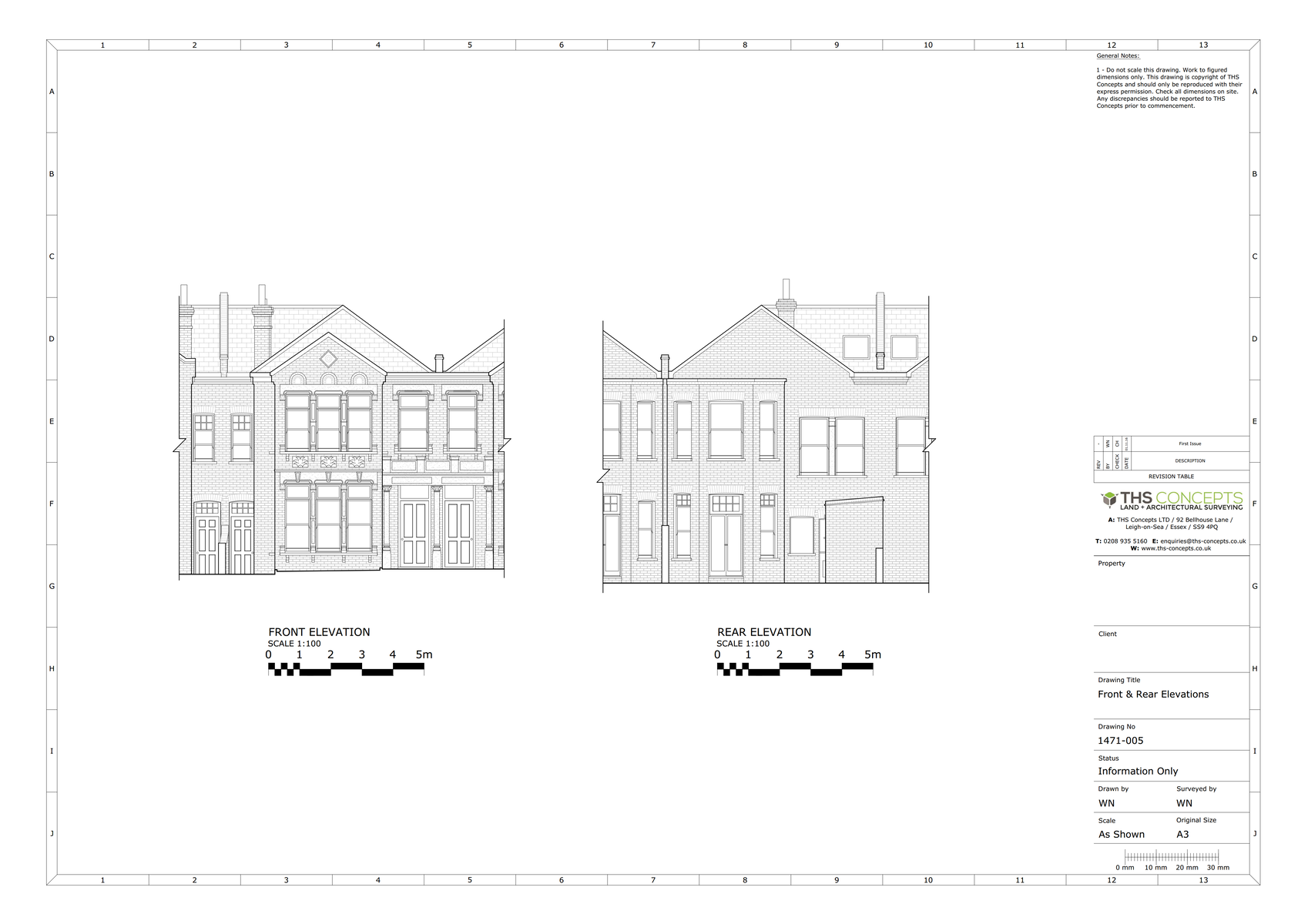 Measured Survey Elevation drawing