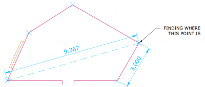 Example of a measured drawing of an angled room