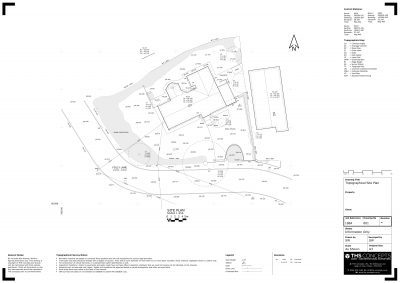 topographical drawing site plan example THS Concepts