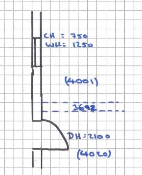 Measuring a Building Room Heights Drawing