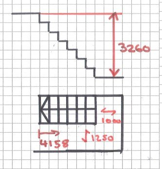 Measuring Stairs Drawing
