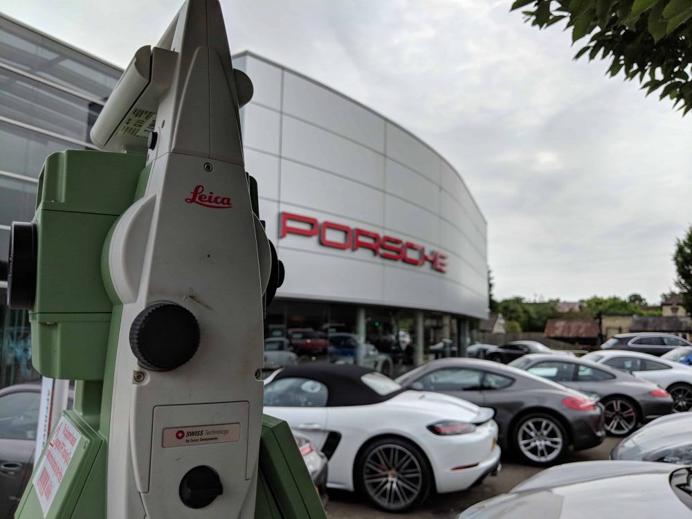 Topographical Survey at Porsche Aston Martin