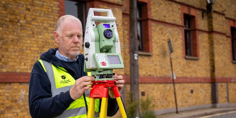 monitoring survey surveyor with total station