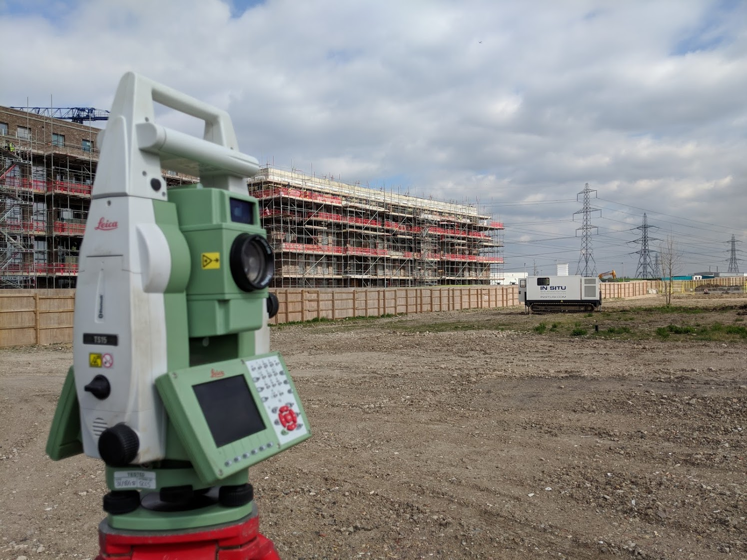 total station setting out at Barking Riverside