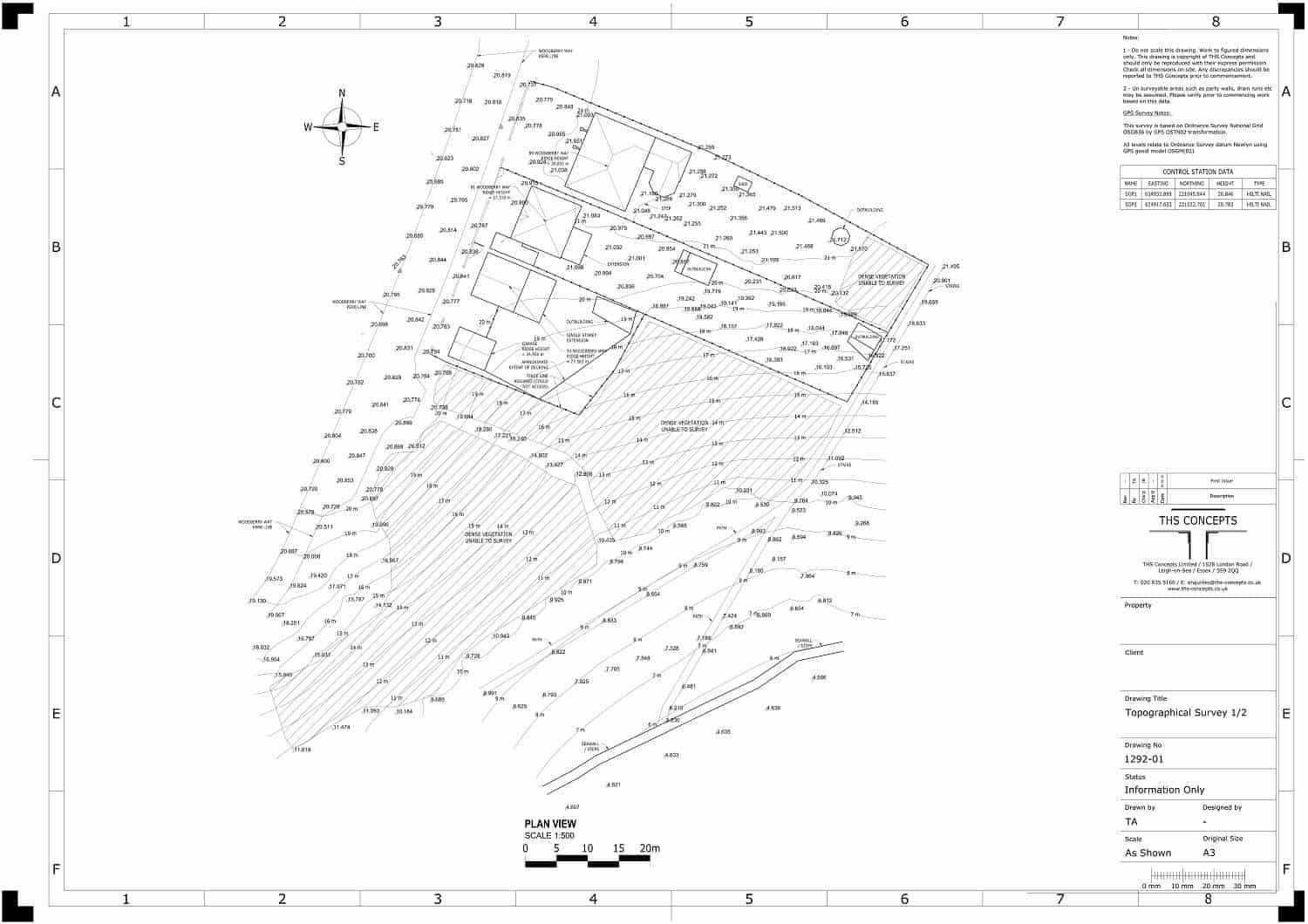 topographical survey drawing