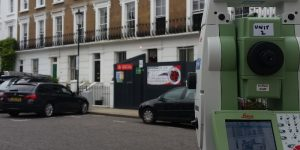 Monitoring survey in London using a total station