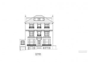 Holland Villa Park house elevation drawing