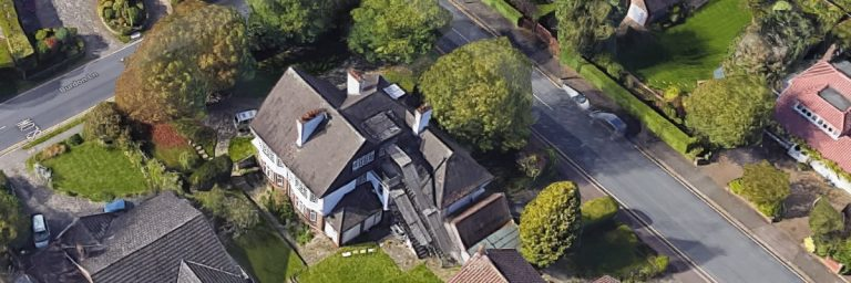 aerial view of burdon lane in sutton london.