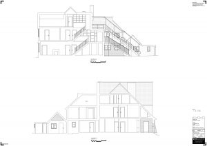 Section drawing from a measured survey project.