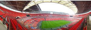 Panoramic view of Wembley Stadium