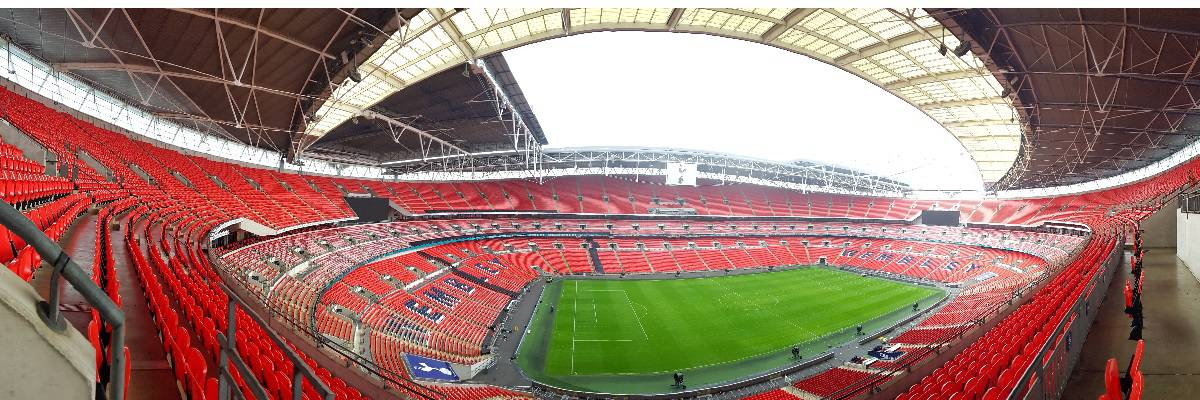 Panoramic view of Wembley Stadium