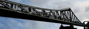 structural steelwork on a bridge