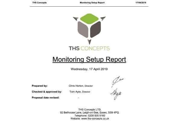 crack monitoring report example front page