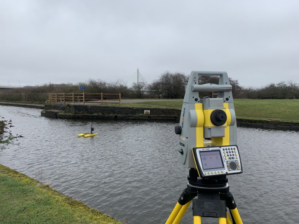 Bathymetric survey using an RC remote boat