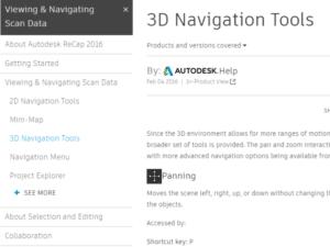 Autodesk Recap 3D navigation tools