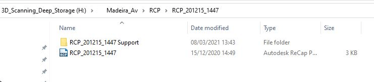 RCP file and folders