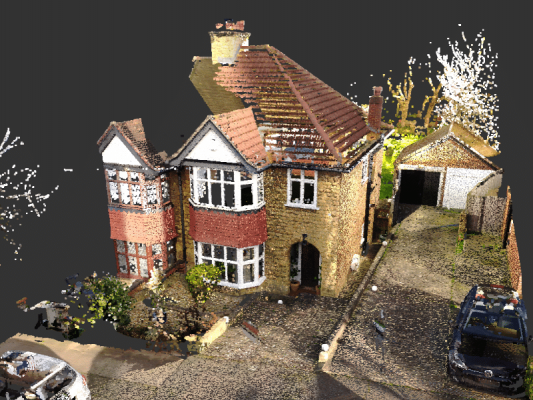 3D Point Cloud Of A House